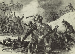 Massacre of black union soldiers at Fort Pillow after they had surrendered.