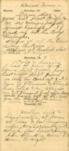 Lot arrives home on 30-day furlough in March 1864