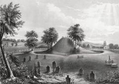 The Ancient Mound at Marietta Cemetery