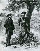 Pemberton and Grant at the Vicksburg Surrender Interview Site