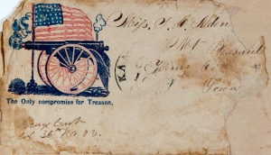 Letter addressed to Neal in Iowa with name of Col. George Crook, 36th Ohio Vols. on cover. Col. Crook is most famous for his post war Indian Fighting Career.