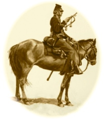 Neal claimed that her cousin Sam Rhodes was a bugler in Co. E, 2s Mass. Cavalry