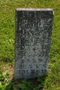 The grave of Charles Heater, age 5