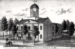 The Second Randolph County Courthouse was built in 1858. Little is known about the James and Mary Gibson family of Huntsville. The infant scalded with coffee was probably 1 year-old Alice Gibson.