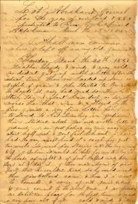 First Page of Lot Abraham's 1859 Diary