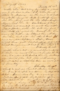 Lot's 16 August 1859 Entry describing Mt. Pleasant Court House Trial