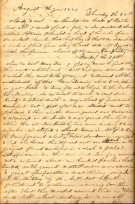 Lot's 26 August 1859 entry describes attending a Methodist Camp Meeting near Mt. Pleasant.