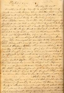 Lot's 21 October 1859 entry describing trip to NE Missouri.