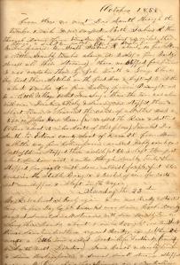 Lot's 22 October 1859 entry describing visit to NE Missouri