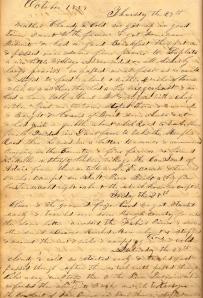 Lot's 27 October 1859 entry describing conversation with Missouri Slaveholder