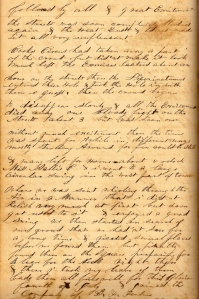 A portion of Lot's 4 July 1860 entry describing celebration in Mt. Pleasant.