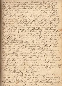 Lot's 4 November 1860 entry describing Rev. Elias W. Shortridge's belief that the Sabbath should be on Saturday, not Sunday.