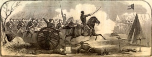 The 7th Iowa was brigaded with the 22nd Illinois under the command of Col. Dougherty when they entered the Battle of Belmont on 6 November 1861. Of 410 men in the regiment participating, they lost 237 in killed, wounded, and missing.