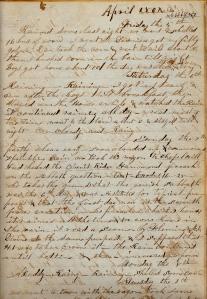 """Lot's 5, 6, & 7 April 1861 entries. The """"Sabbath Question"""" rage continues."""