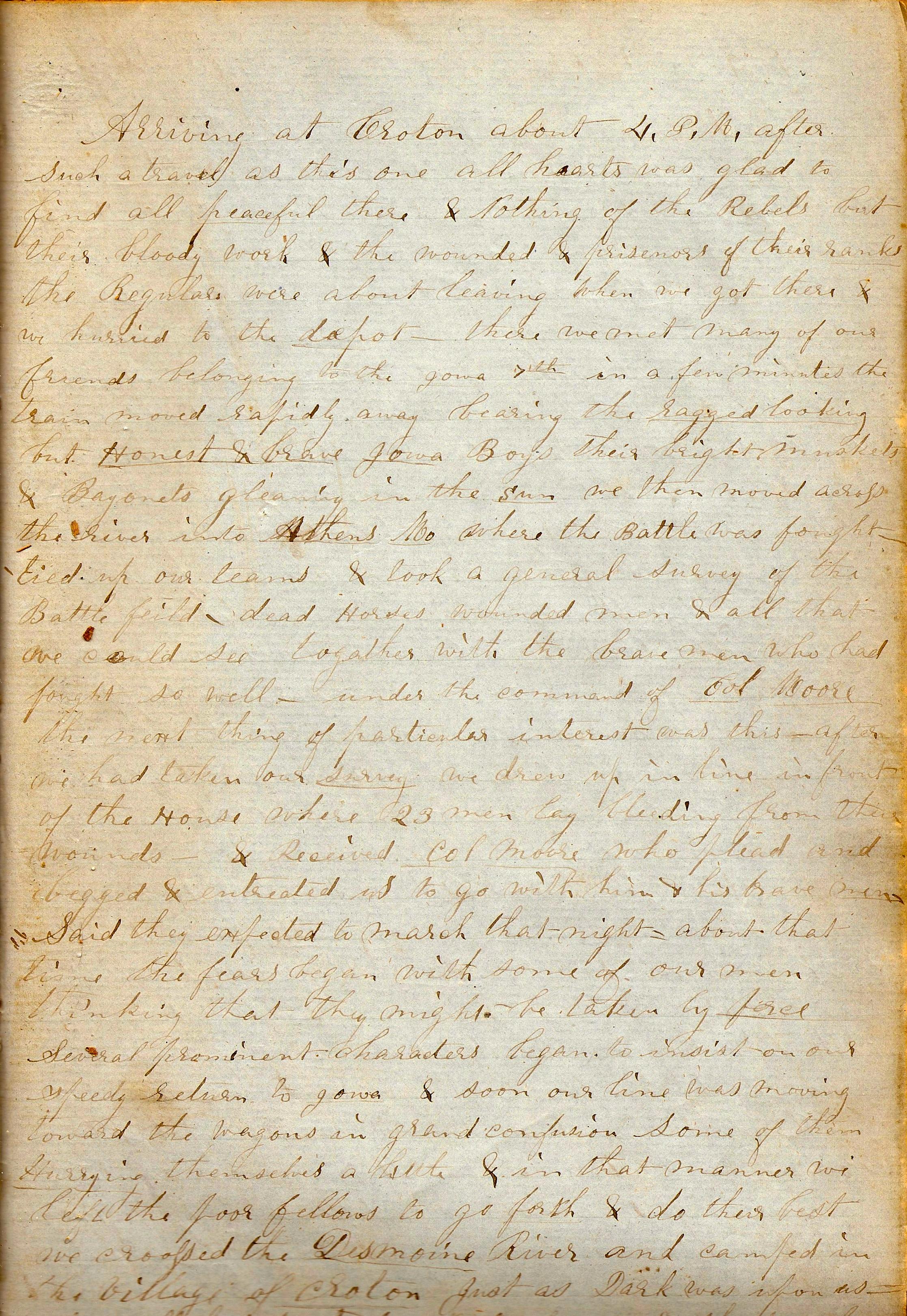 July September 1861 My Own Dear Lot