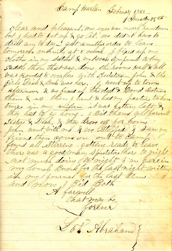 The Final Entry in Lot Abraham's Diary