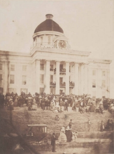 The Alabama State House where Jeff Davis had been inaugurated President of the CSA