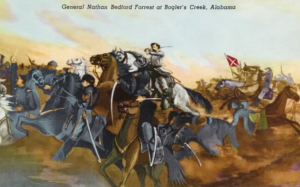 Gen. Forrest attempts to turn back the Union Cavalry at Boglers Creek on 1 April 1865