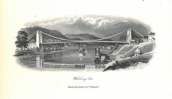 Suspension Bridge at Wheeling, West Virginia